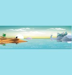 arab metropolis on the coast vector image