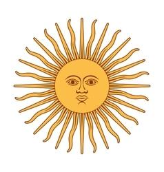 Argentna sun vector