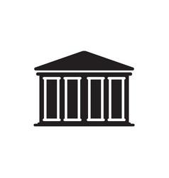 bank icon finance building vector image