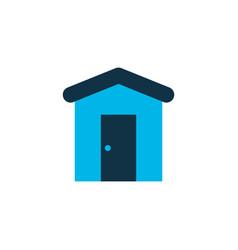 barn icon colored symbol premium quality isolated vector image