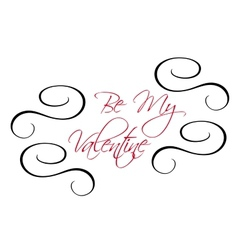 Be My Valentine greeting header vector