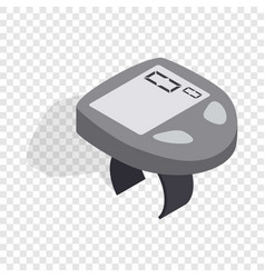 Bicycle speedometer computer isometric icon vector