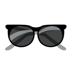 black sunglasses cartoon vector image