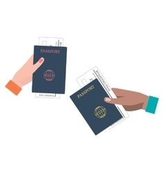 Boarding pass and passport vector
