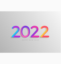 Bright banner for 2022 new year vector