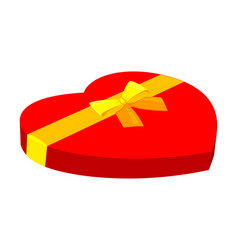 cartoon red heart candy box vector image