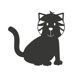 cat pet mascot icon vector image
