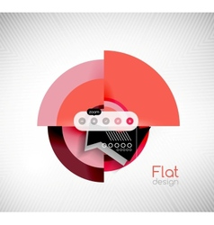 Circle geometric shapes flat interface design vector