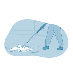 cleaning housework washing concept vector image
