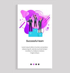 company leadership successful team web vector image