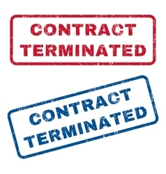 Contract Terminated Rubber Stamps vector