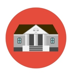 Courhouse icon flat vector