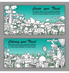 Create your travel flier vector