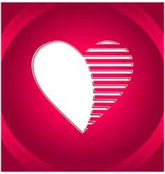 Creative Heart button vector image vector image