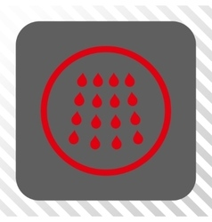 Drops Rounded Square Button vector image