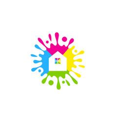 estate paint logo icon design vector image