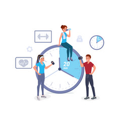 fitness time flat vector image