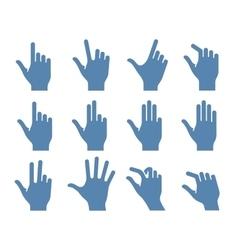 Gesture icon set vector