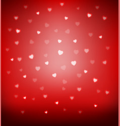 happy valentine day card hearts light vector image