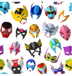 Hero mask superhero masque and masking face vector