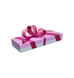 Holiday package closed gift box isolated vector