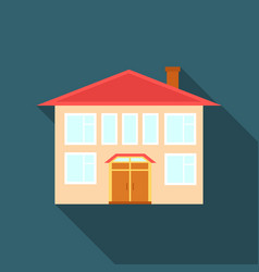 house icon flate single building icon from the vector image