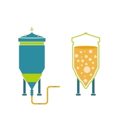 Infographics technology of beer production vector