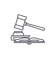 Intellectual property line icon concept vector