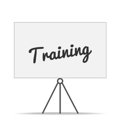 Isolated training board vector image