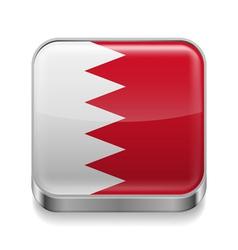 Metal icon of Bahrain vector