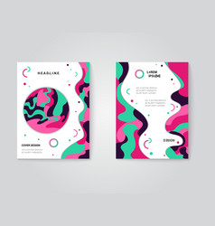 modern brochure covers set futuristic design with vector image