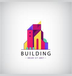 multicolored real estate logo designs vector image