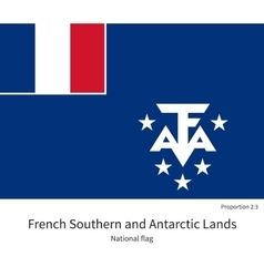 National flag of french southern and antarctic vector