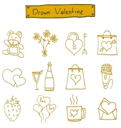 Object valentine day icons art vector