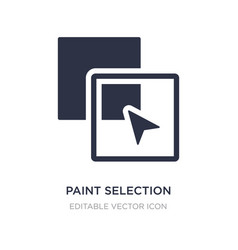Paint selection icon on white background simple vector