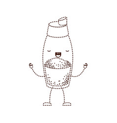 pepper container cartoon dotted silhouette brown vector image vector image