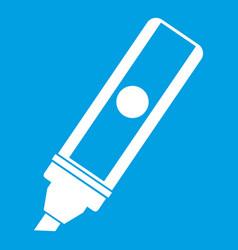 Permanent marker icon white vector