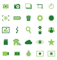 Photography color icons on white background vector image