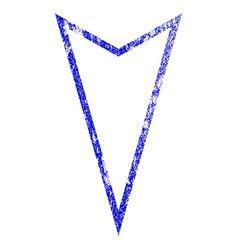 Pointer down grunge textured icon vector