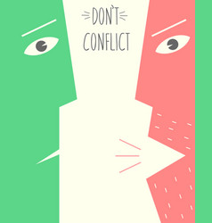 poster does not conflict vector image