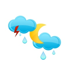 rain cloud and drops sign vector image