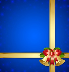 Ribbon and bells template vector image