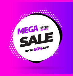 sale banner template design special offer vector image