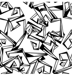 Seamless pattern of abstract curls with corners vector