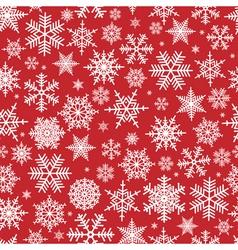 Seamless snowflake pattern vector