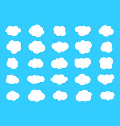 set clouds cloud icon vector image