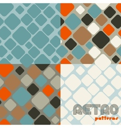 Set four abstract retro seamless patterns vector