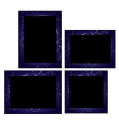 Set of photo frames Isolated on white background vector image