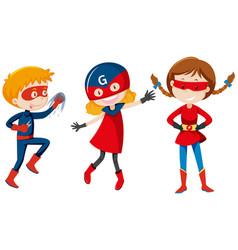 set of super hero character vector image