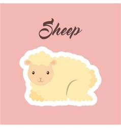 Sheep animal icon vector